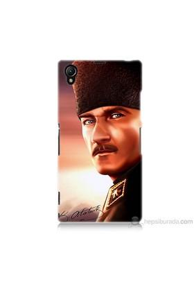 Teknomeg Sony Xperia Z1 Kapak Kılıf Mustafa Kemal Baskılı Silikon