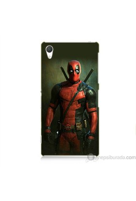 Teknomeg Sony Xperia Z2 Kapak Kılıf Deadpool Baskılı Silikon