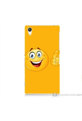 Teknomeg Sony Xperia Z2 Kapak Kılıf Emoji Baskılı Silikon