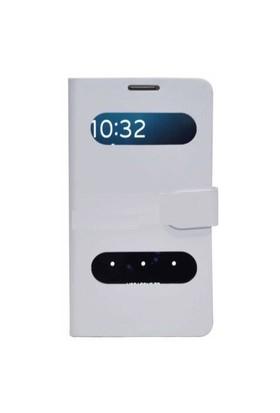 Qapak Mila Samsung S5 Beyaz Kılıf + Ekran Koruyucu Hediyeli uz244434009437