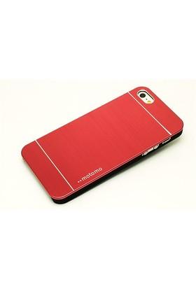 Qapak Apple iPhone 6 Motomo Metal Kapak Kırmızı uz244434009460