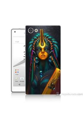 Teknomeg Sony Xperia Z5 Mini Kapak Kılıf İllustrations Resim Baskılı Silikon