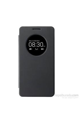 Case 4U Asus Zenfone 5 Flip Cover Siyah (Uyku Modlu) - Kapaklı Kılıf