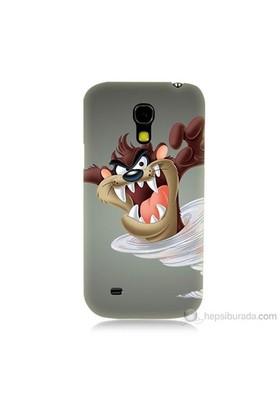 Teknomeg Samsung Galaxy S4 Mini Kapak Kılıf Tazmanya Canavarı Baskılı Silikon