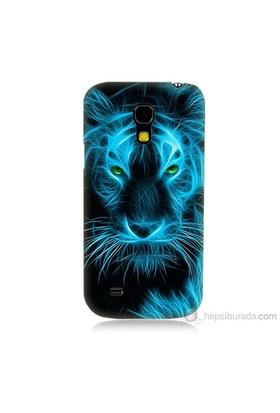 Teknomeg Samsung Galaxy S4 Mini Kapak Kılıf Mavi Kaplan Baskılı Silikon