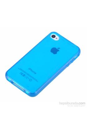 Qapak Silikon Kapak iPhone 4/4s Mavi uz244434007518
