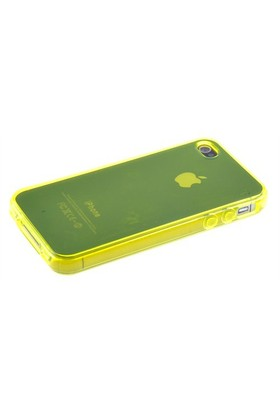 Qapak Silikon Kapak iPhone 4/4s Sarı uz244434007522