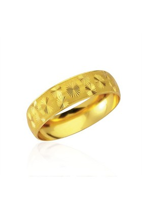 Forentina Altın Kaplama Lazer İşlemeli Bilezik Fr0291