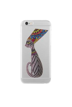Remeto Samsung Galaxy Note 3 Neo Transparan Silikon Resimli Mısır Kraliçesi Nefertitinin Kedisi