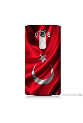 Teknomeg Lg G4 Kapak Kılıf Türkiye Bayrağı Baskılı Silikon
