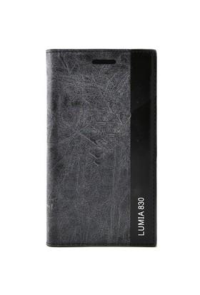 Teleplus Nokia Lumia 830 Flip Cover Kılıf Kapak Siyah