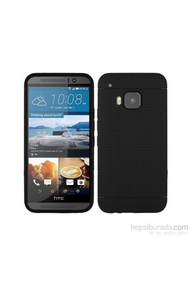 Teleplus Htc One M9 Benekli Silikon Kılıf Siyah