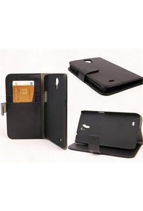Microsonic Cüzdanlı Standlı Deri Kılıf - Samsung Galaxy Mega 6.3 İ9200 Siyah