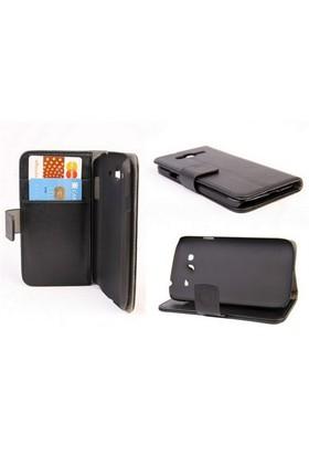Microsonic Cüzdanlı Standlı Deri Kılıf - Samsung Galaxy Grand Duos İ9080 / İ9082 Siyah