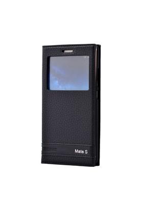 Teleplus Huawei Mate S Lüx Pencereli Kılıf Siyah