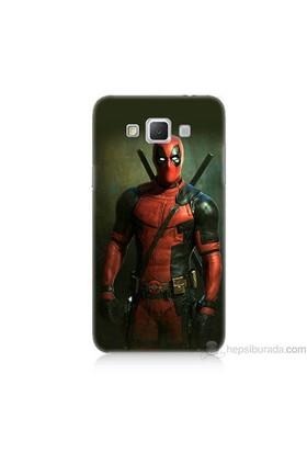 Teknomeg Samsung Galaxy Grand Max Kapak Kılıf Deadpool Baskılı Silikon