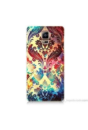 Teknomeg Samsung Galaxy Note 4 Kapak Kılıf Çiçek Motifi Baskılı Silikon
