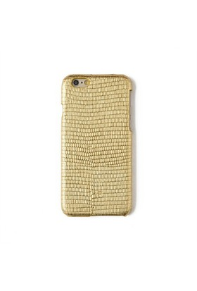 Kertenkele Baskı Altın Deri Telefon Kılıfı - İphone 6/6S