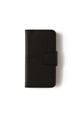 Siyah Deri Kapaklı Telefon Kılıfı - İphone 6/6S