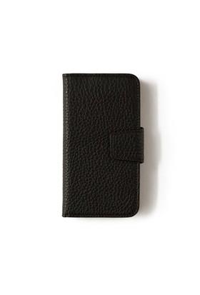 Siyah Deri Kapaklı Telefon Kılıfı - Samsung Galaxy S7