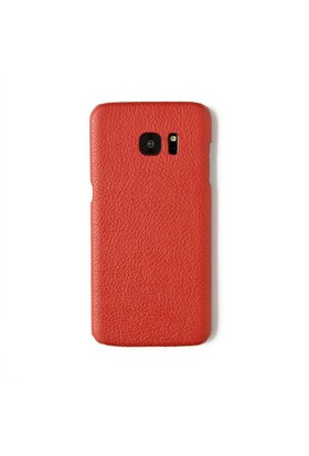 Kırmızı Deri Telefon Kılıfı - Samsung Galaxy S7 Edge