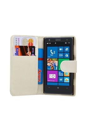Microsonic Nokia Lumia 1020 Cüzdanlı Deri Kılıf Beyaz - CS150-WLT-LUMIA-1020-BYZ