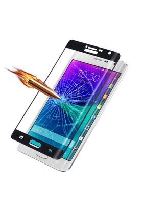Teleplus Galaxy Note Edge Cam Ekran Koruyucu Kavis Kısmı Dahil Full Koruma Siyah