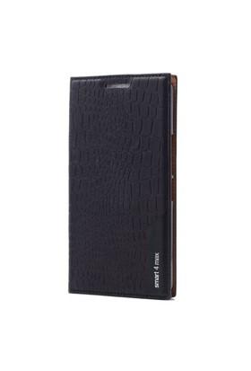 Teleplus Vodafone Smart 4 Max Flip Cover Kılıf Siyah