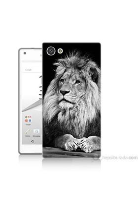 Teknomeg Sony Xperia Z5 Kapak Kılıf Asil Aslan Baskılı Silikon
