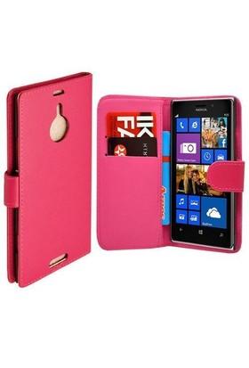 Teleplus Nokia Lumia 1520 Cüzdanlı Pembe Kılıf