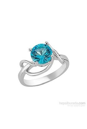 Goldstore Gümüş Blue Topaz Yüzük SR17028