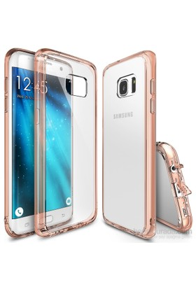 Ringke Fusion Galaxy S7 Edge Kılıf Rose Gold - Extra Darbe Emici