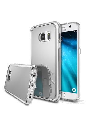 Ringke Mirror Fusion Galaxy S7 Aynalı Kılıf Silver - Extra Darbe Emici