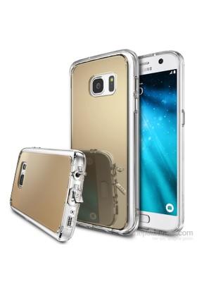 Ringke Mirror Fusion Galaxy S7 Aynalı Kılıf Royal Gold - Extra Darbe Emici