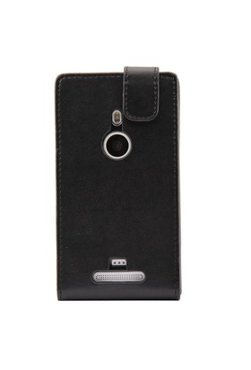Resonare Microsoft Lumia 925 Leather Wallet Business Class Siyah Kapak