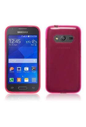 Teleplus Samsung Galaxy Ace 4 Tam Korumalı Silikon Kılıf Pembe