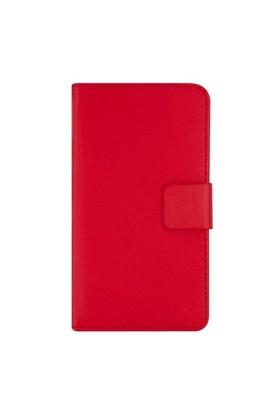 Motorola Moto G Full Korumalı Cüzdanlı Kılıf Kırmızı