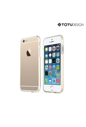 Totu Design Apple iPhone 6 Evouqe Series Geek Bumper Çerveve Gümüş*