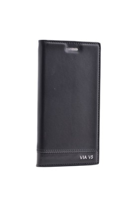 Teleplus Casper Via V5 Flip Cover Kılıf Kapak Siyah