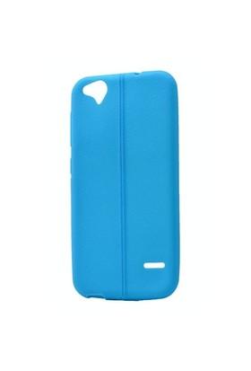 Teleplus Turkcell T60 Deri Görünümlü Silikon Kılıf Mavi