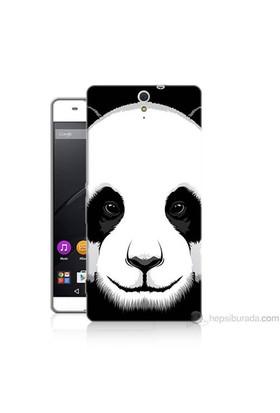 Teknomeg Sony Xperia C5 Kapak Kılıf Panda Baskılı Silikon