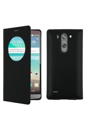 Teleplus Lg G3 Beat Lux Pencereli Uyku Modlu Kılıf Siyah