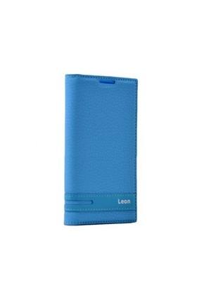 Teleplus Lg Leon 4G Mıknatıslı Flip Cover Kılıf Mavi