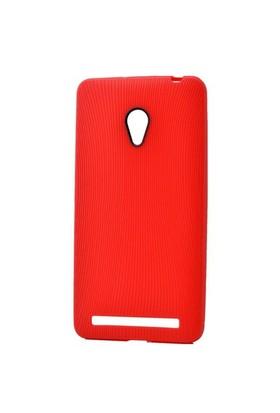 Teleplus Asus Zenfone 6 Çizgili Silikon Kılıf Kırmızı