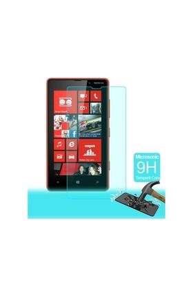 Microsonic Temperli Cam Ekran Koruyucu Nokia Lumia 820 Film