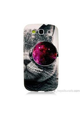 Teknomeg Samsung Galaxy S3 Kapak Kılıf Kedi Baskılı Silikon