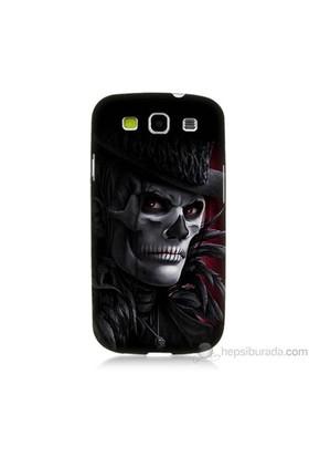 Teknomeg Samsung Galaxy S3 Kapak Kılıf Kuru Kafa Baskılı Silikon