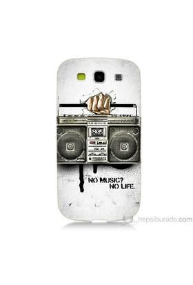 Teknomeg Samsung Galaxy S3 Kapak Kılıf Müzik Hayattır Baskılı Silikon