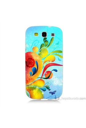 Teknomeg Samsung Galaxy S3 Kapak Kılıf Renkli Desen Baskılı Silikon