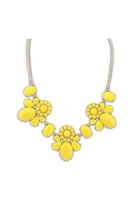 Modalina Sarı Çiçek Kolye